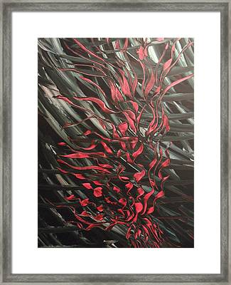 Black Blood Framed Print by Nico Bielow