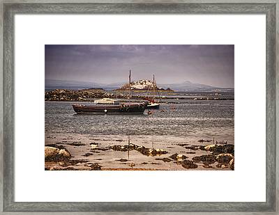 Black Boat Framed Print