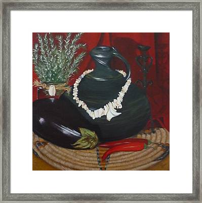 Framed Print featuring the painting Black Bottle by Helen Syron