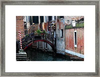 Black Bridge Framed Print by Jacqueline M Lewis