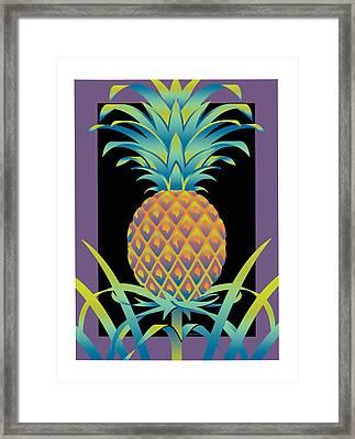 Black Bromeliad Framed Print