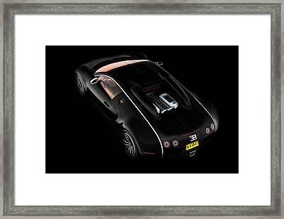 Black Bugatti Framed Print by Peter Chilelli