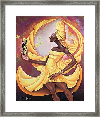 Black Butterfly Framed Print by The Art of DionJa'Y