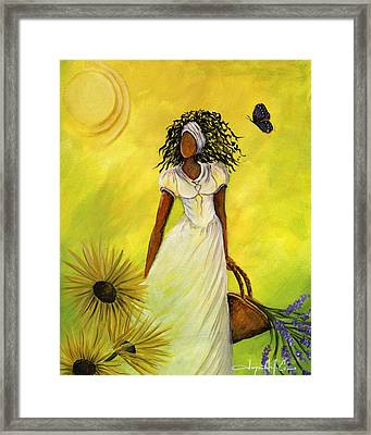 Black Butterfly Framed Print
