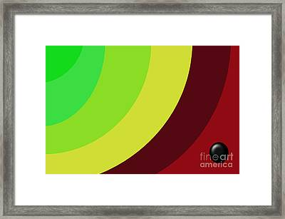Black Button Series Three Framed Print