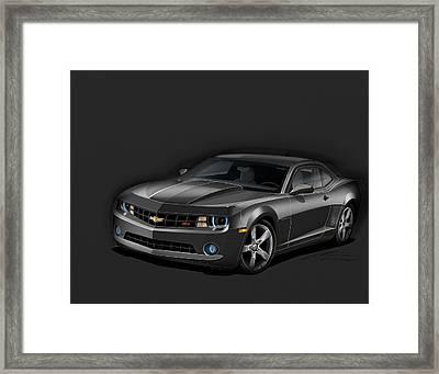 Black Camaro Framed Print by Etienne Carignan