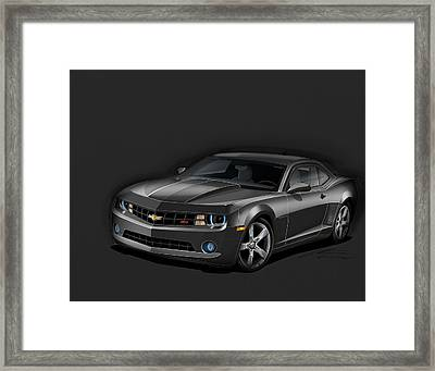 Black Camaro Framed Print