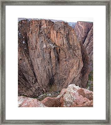 Framed Print featuring the photograph Black Canyon Chasm View by Eric Rundle