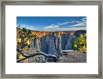 Black Canyon Fading Light Framed Print