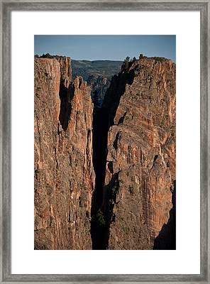 Framed Print featuring the photograph Black Canyon Island View  by Eric Rundle