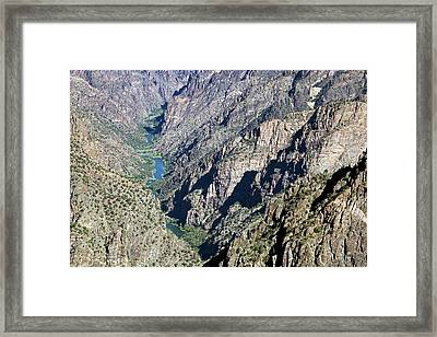 Black Canyon Of The Gunnison Framed Print by Jim West