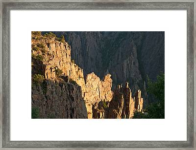 Framed Print featuring the photograph Black Canyon Sitting Camel  by Eric Rundle