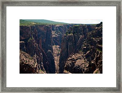 Framed Print featuring the photograph Black Canyon The Narrows  by Eric Rundle