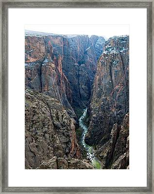 Black Canyon The River  Framed Print
