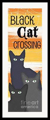 Creepy Cat Framed Prints