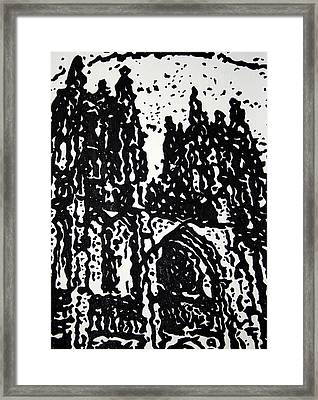 Black Cathedral  Framed Print by Oscar Penalber