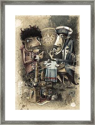 Black Characters Espresso Coffe Framed Print by Tom Koval