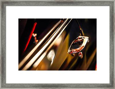 Black Chevelle Door Handle Framed Print by Shanna Gillette