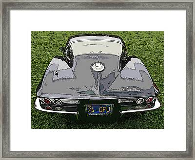 Black Chevy Corvette Stingray Framed Print