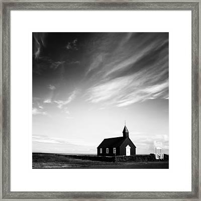 Black Church Framed Print by Nina Papiorek