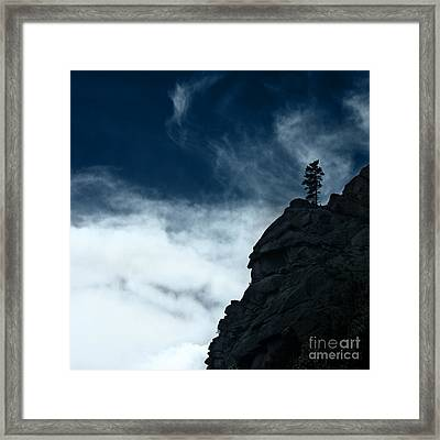 Framed Print featuring the photograph Black Cliff by Dana DiPasquale