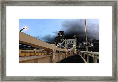 Black Cloud Over The City Framed Print