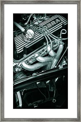Black Cobra - Ford Cobra Engines Framed Print by Steven Milner