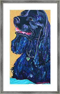Black Cocker Spaniel Framed Print by Patti Schermerhorn
