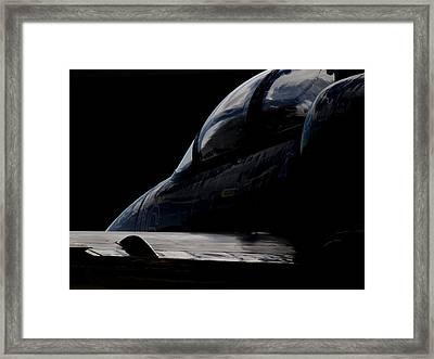Black Cockpit Framed Print by Paul Job