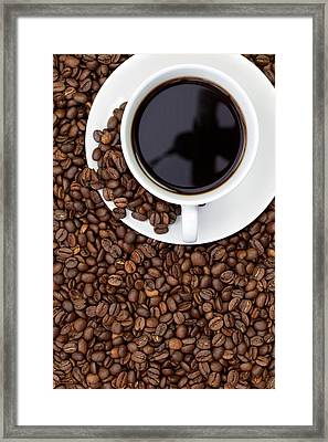 Black Coffee Framed Print by Andrew Dernie