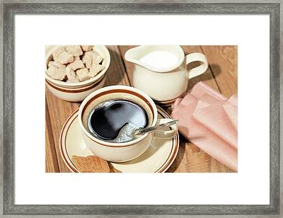 Black Coffee Framed Print by Wladimir Bulgar