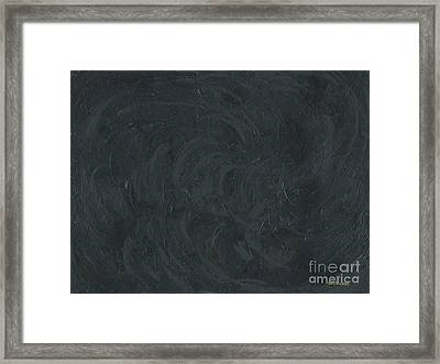 Black Color Of Energy Framed Print by Ania M Milo