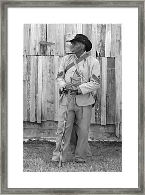 Black Confederate Soldier - Richmond Kentucky Framed Print