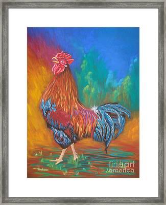 Black Copper Maran Rooster Framed Print