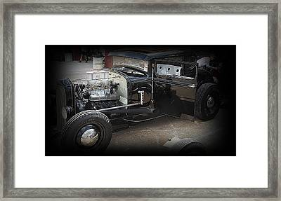 Black Coupe Framed Print by Joshua Burcham