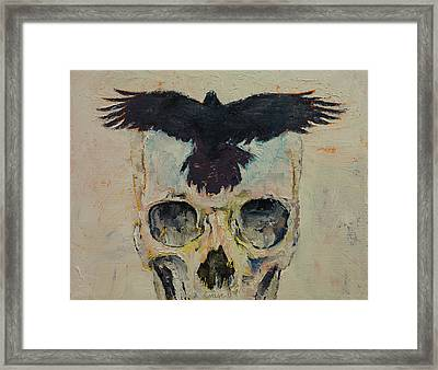 Black Crow Framed Print by Michael Creese
