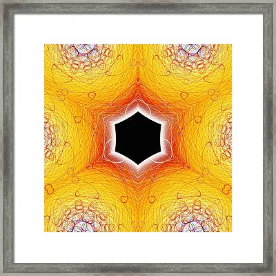 Black Cube Framed Print