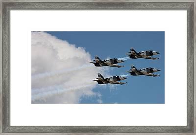 Black Diamond L-39s In Flight Framed Print