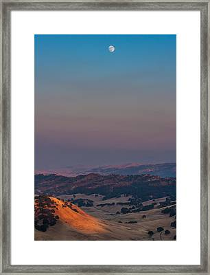 Black Diamond Moonrise Framed Print by Marc Crumpler