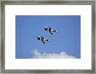 Framed Print featuring the photograph Black Diamonds In The Sky by DigiArt Diaries by Vicky B Fuller
