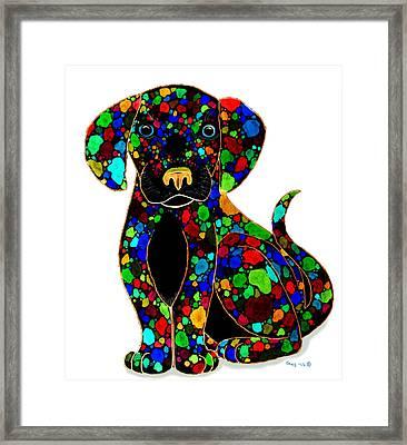 Black Dog 2 Framed Print by Nick Gustafson