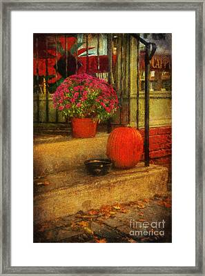 Black Dog Coffee And Catering Framed Print by Lois Bryan