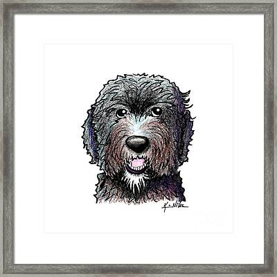 Black Dood White Beard Framed Print by Kim Niles