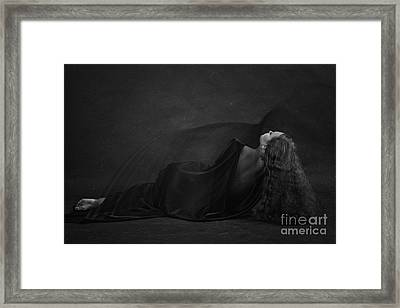 Black Dress Framed Print by Evgeniy Lankin