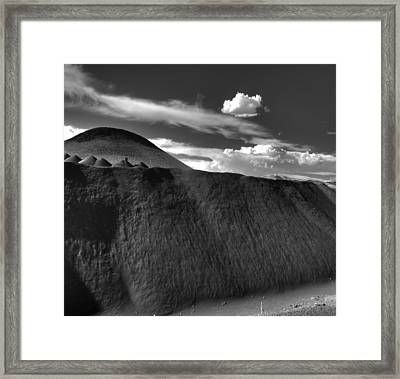 Black Dune Framed Print