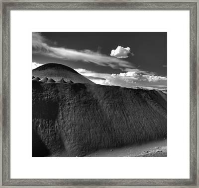 Black Dune Framed Print