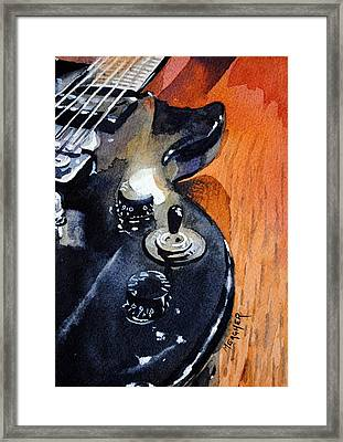 Black Epiphone Framed Print by Spencer Meagher