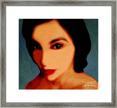 Black-eyed Beauty Framed Print