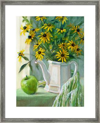 Black-eyed Susans Framed Print by Bonnie Mason