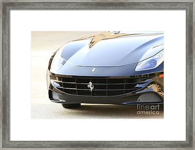 Black Ferrari Framed Print by Nina Prommer